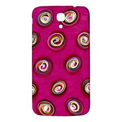 Digitally Painted Abstract Polka Dot Swirls On A Pink Background Samsung Galaxy Mega I9200 Hardshell Back Case