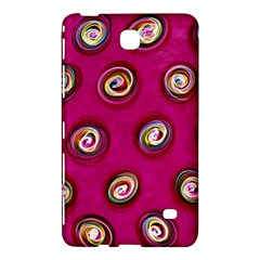Digitally Painted Abstract Polka Dot Swirls On A Pink Background Samsung Galaxy Tab 4 (7 ) Hardshell Case
