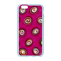 Digitally Painted Abstract Polka Dot Swirls On A Pink Background Apple Seamless iPhone 6/6S Case (Color)