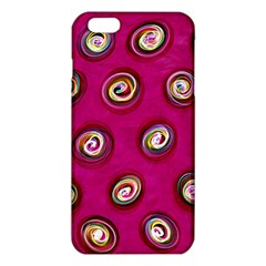 Digitally Painted Abstract Polka Dot Swirls On A Pink Background iPhone 6 Plus/6S Plus TPU Case