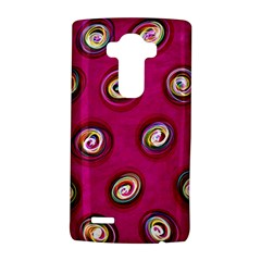 Digitally Painted Abstract Polka Dot Swirls On A Pink Background Lg G4 Hardshell Case
