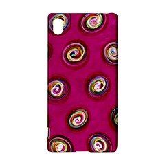 Digitally Painted Abstract Polka Dot Swirls On A Pink Background Sony Xperia Z3+