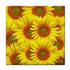 Sunflowers Background Wallpaper Pattern Tile Coasters
