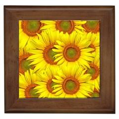 Sunflowers Background Wallpaper Pattern Framed Tiles