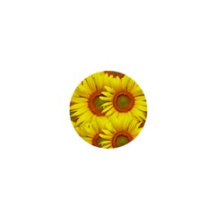 Sunflowers Background Wallpaper Pattern 1  Mini Buttons