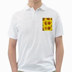 Sunflowers Background Wallpaper Pattern Golf Shirts