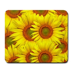 Sunflowers Background Wallpaper Pattern Large Mousepads