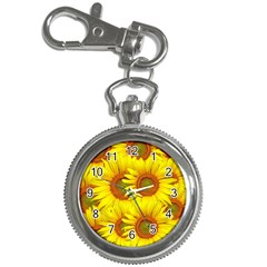Sunflowers Background Wallpaper Pattern Key Chain Watches
