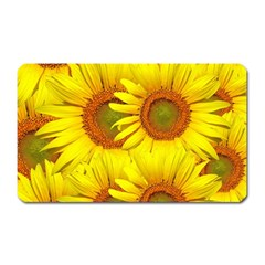 Sunflowers Background Wallpaper Pattern Magnet (rectangular)
