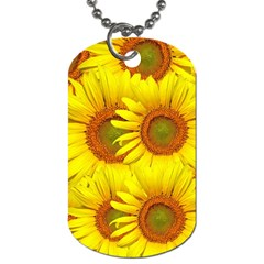 Sunflowers Background Wallpaper Pattern Dog Tag (one Side)