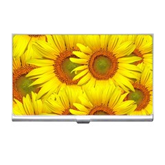 Sunflowers Background Wallpaper Pattern Business Card Holders