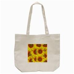 Sunflowers Background Wallpaper Pattern Tote Bag (Cream)