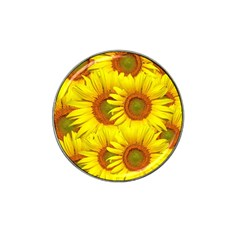Sunflowers Background Wallpaper Pattern Hat Clip Ball Marker
