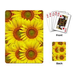 Sunflowers Background Wallpaper Pattern Playing Card