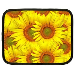 Sunflowers Background Wallpaper Pattern Netbook Case (Large)