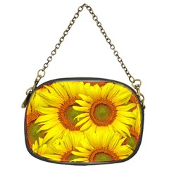 Sunflowers Background Wallpaper Pattern Chain Purses (two Sides)