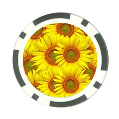 Sunflowers Background Wallpaper Pattern Poker Chip Card Guard (10 pack)