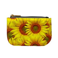 Sunflowers Background Wallpaper Pattern Mini Coin Purses
