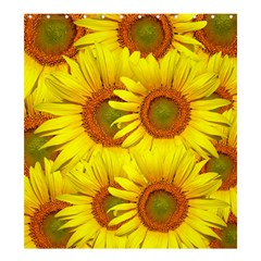 Sunflowers Background Wallpaper Pattern Shower Curtain 66  x 72  (Large)