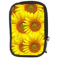 Sunflowers Background Wallpaper Pattern Compact Camera Cases