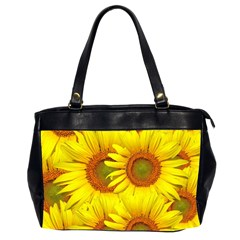 Sunflowers Background Wallpaper Pattern Office Handbags (2 Sides)