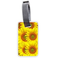 Sunflowers Background Wallpaper Pattern Luggage Tags (Two Sides)