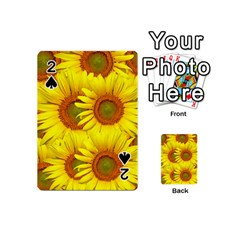 Sunflowers Background Wallpaper Pattern Playing Cards 54 (Mini)