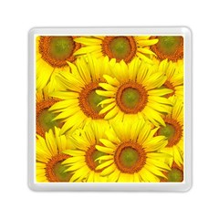 Sunflowers Background Wallpaper Pattern Memory Card Reader (Square)