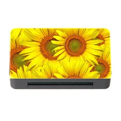 Sunflowers Background Wallpaper Pattern Memory Card Reader with CF