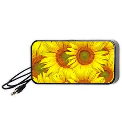 Sunflowers Background Wallpaper Pattern Portable Speaker (Black)