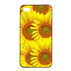 Sunflowers Background Wallpaper Pattern Apple Iphone 4/4s Seamless Case (black)