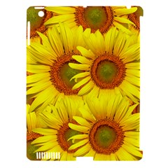 Sunflowers Background Wallpaper Pattern Apple Ipad 3/4 Hardshell Case (compatible With Smart Cover)