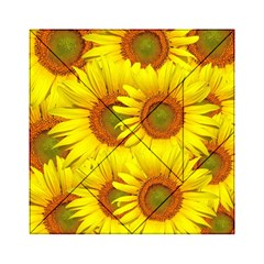 Sunflowers Background Wallpaper Pattern Acrylic Tangram Puzzle (6  X 6 )