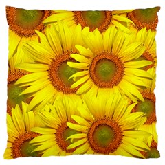 Sunflowers Background Wallpaper Pattern Large Cushion Case (two Sides)
