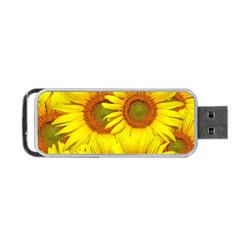 Sunflowers Background Wallpaper Pattern Portable Usb Flash (one Side)