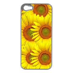 Sunflowers Background Wallpaper Pattern Apple Iphone 5 Case (silver)