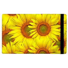 Sunflowers Background Wallpaper Pattern Apple iPad 2 Flip Case