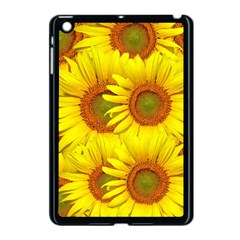Sunflowers Background Wallpaper Pattern Apple iPad Mini Case (Black)