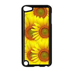 Sunflowers Background Wallpaper Pattern Apple Ipod Touch 5 Case (black)