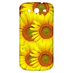Sunflowers Background Wallpaper Pattern Samsung Galaxy S3 S Iii Classic Hardshell Back Case
