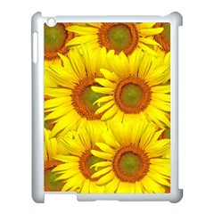 Sunflowers Background Wallpaper Pattern Apple iPad 3/4 Case (White)