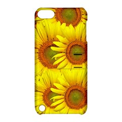 Sunflowers Background Wallpaper Pattern Apple Ipod Touch 5 Hardshell Case With Stand