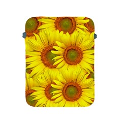 Sunflowers Background Wallpaper Pattern Apple iPad 2/3/4 Protective Soft Cases