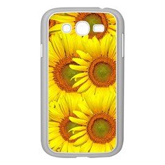 Sunflowers Background Wallpaper Pattern Samsung Galaxy Grand Duos I9082 Case (white)