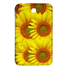 Sunflowers Background Wallpaper Pattern Samsung Galaxy Tab 3 (7 ) P3200 Hardshell Case