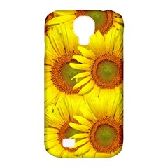 Sunflowers Background Wallpaper Pattern Samsung Galaxy S4 Classic Hardshell Case (pc+silicone)
