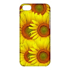 Sunflowers Background Wallpaper Pattern Apple iPhone 5C Hardshell Case