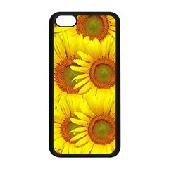 Sunflowers Background Wallpaper Pattern Apple iPhone 5C Seamless Case (Black)