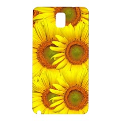 Sunflowers Background Wallpaper Pattern Samsung Galaxy Note 3 N9005 Hardshell Back Case