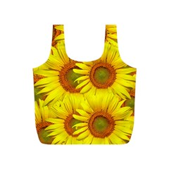 Sunflowers Background Wallpaper Pattern Full Print Recycle Bags (s)